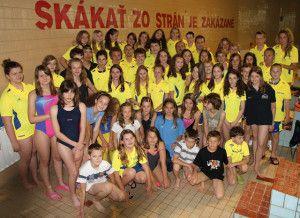 Spoločná fotka plavcov ŠKP Košice